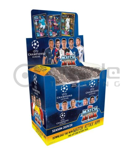 2019-20 Topps Match-Attax Champions League Cards - Display Box - 50 Packs