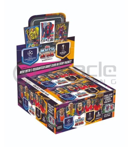 2020-21 Topps Match-Attax Champions League Cards - Display Box - 30 Packs