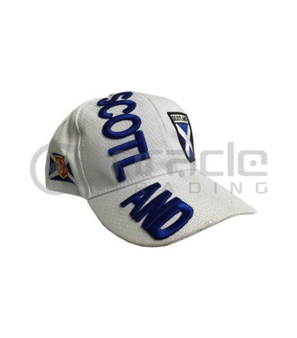 3D Scotland Hat - White