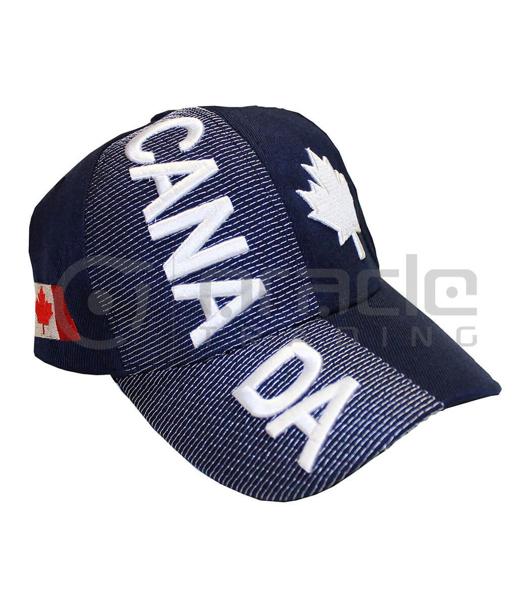 3D Canada Hat - Navy