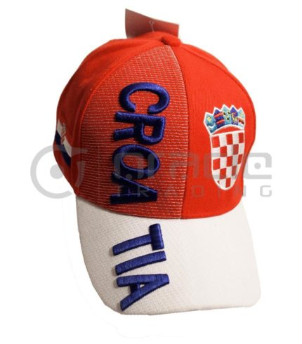 3D Croatia Hat - Red/White