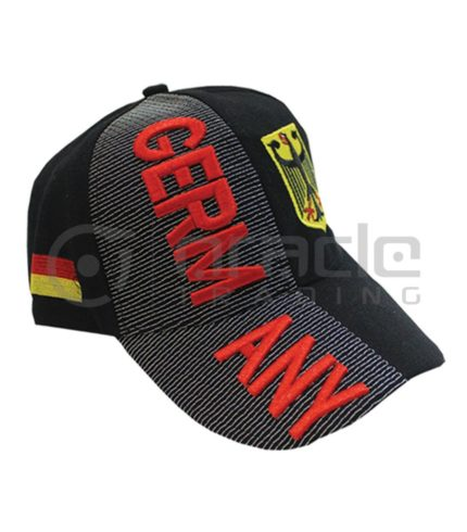 3D Germany Hat - Black - Eagle
