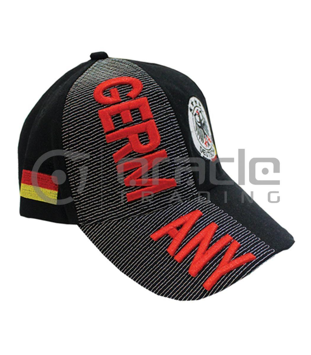 3D Germany Hat - Black - 4-Star