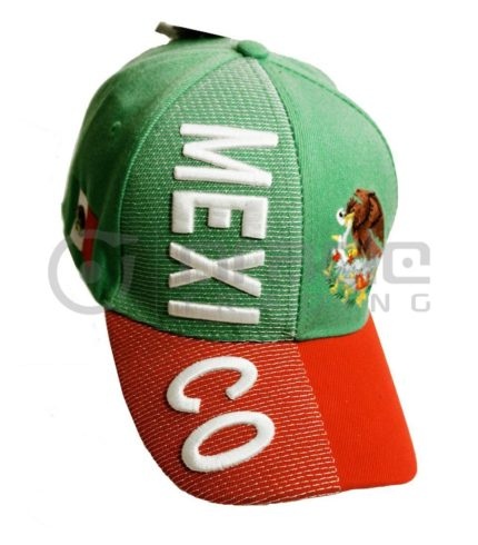 3D Mexico Hat - Green/Red