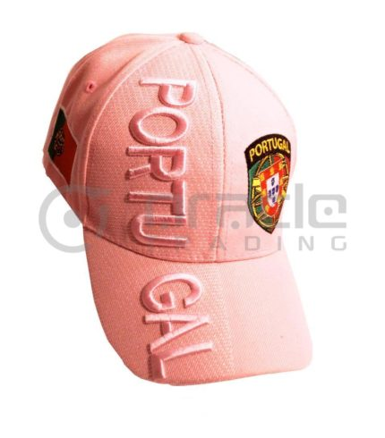 3D Portugal Hat - Pink