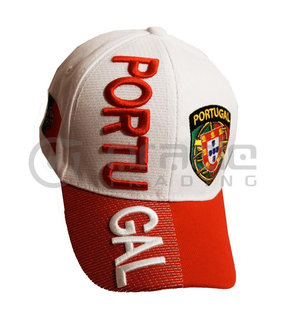 3D Portugal Hat - White