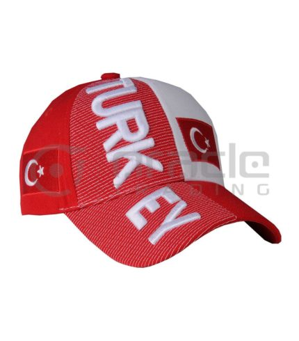 3D Turkey Hat - Red/White