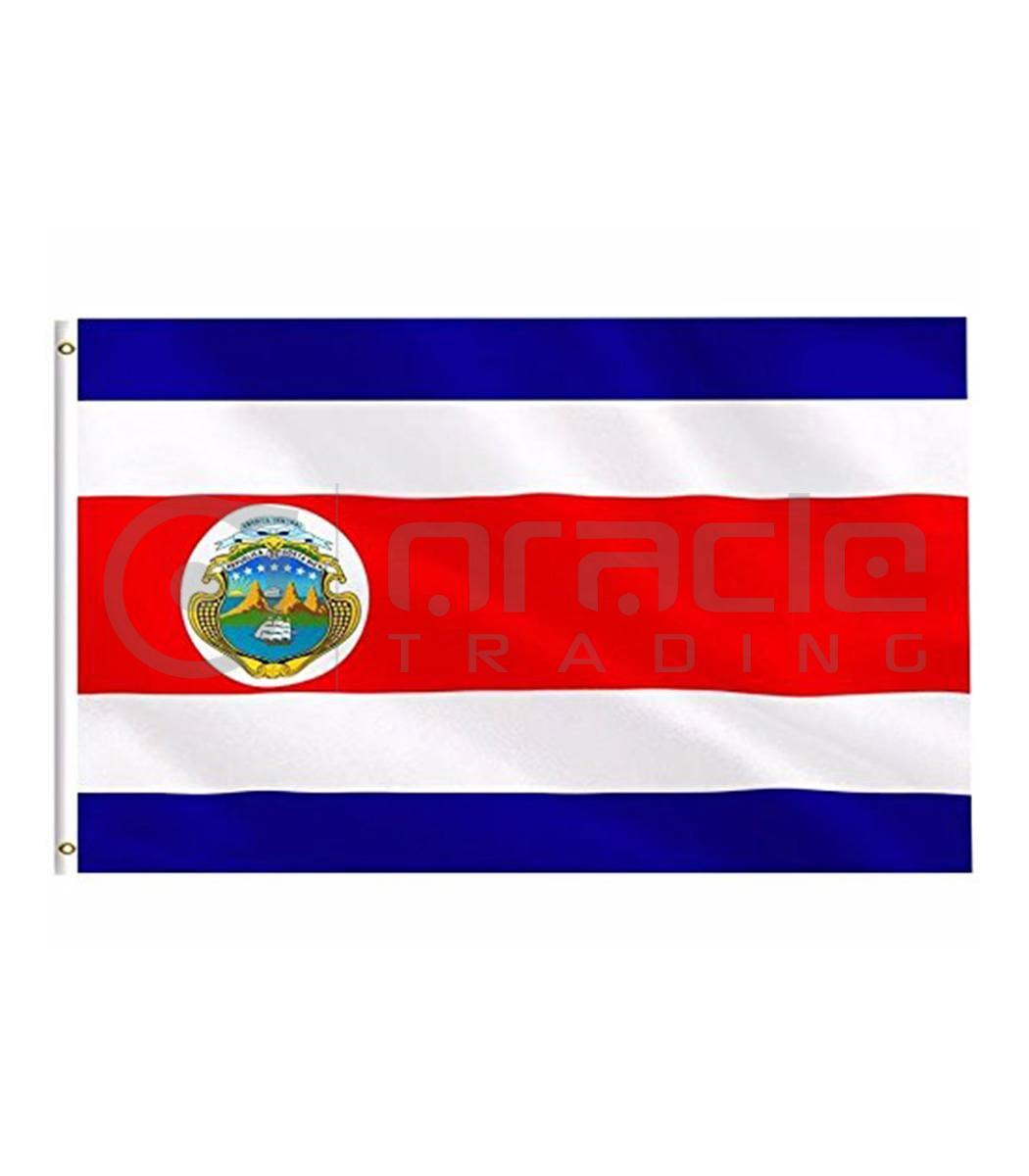Large 3'x5' Costa Rica Flag