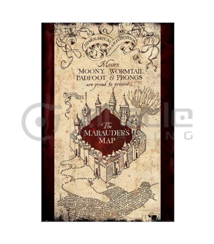 Harry Potter Marauder's Map Poster