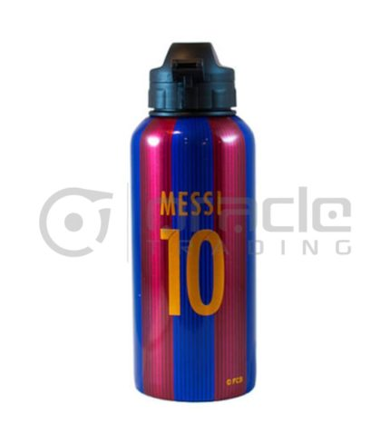 Messi Barcelona Aluminum Water Bottle (Signed)