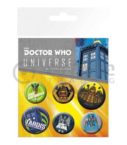 Doctor Who Badge Pack - Alien Adventures