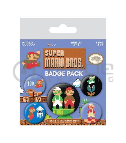 Super Mario Badge Pack - Retro