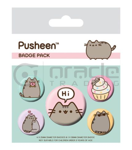 Pusheen Badge Pack - Hi