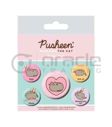 Pusheen Badge Pack - Lazy