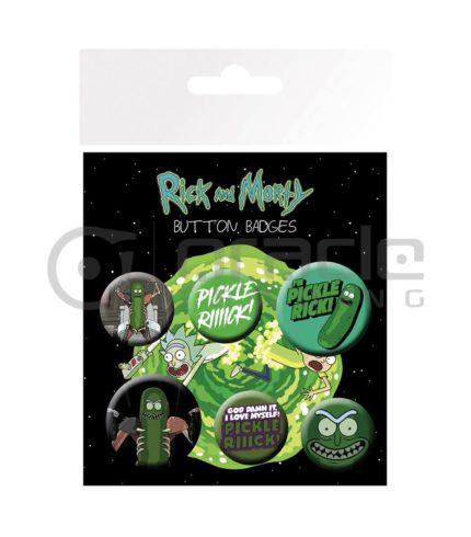 Rick & Morty Badge Pack - Pickle Rick