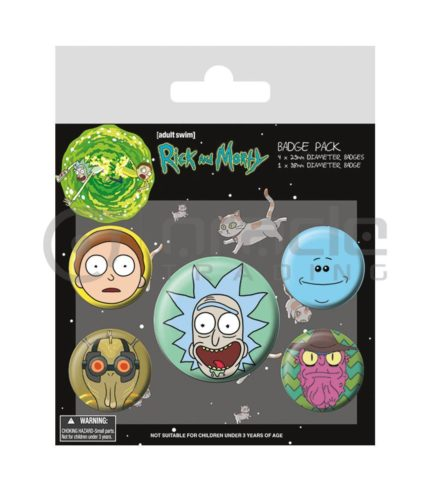 Rick & Morty Badge Pack - Heads