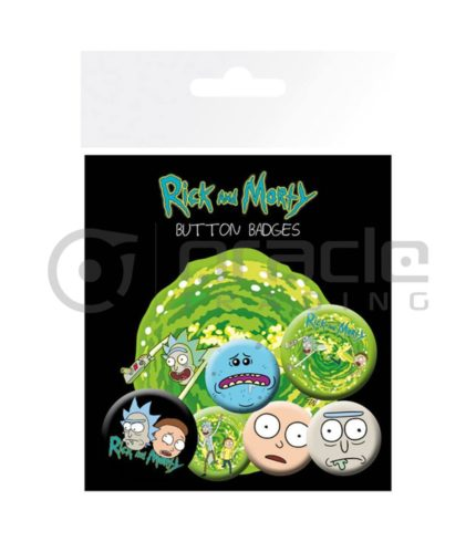 Rick & Morty Badge Pack - Characters