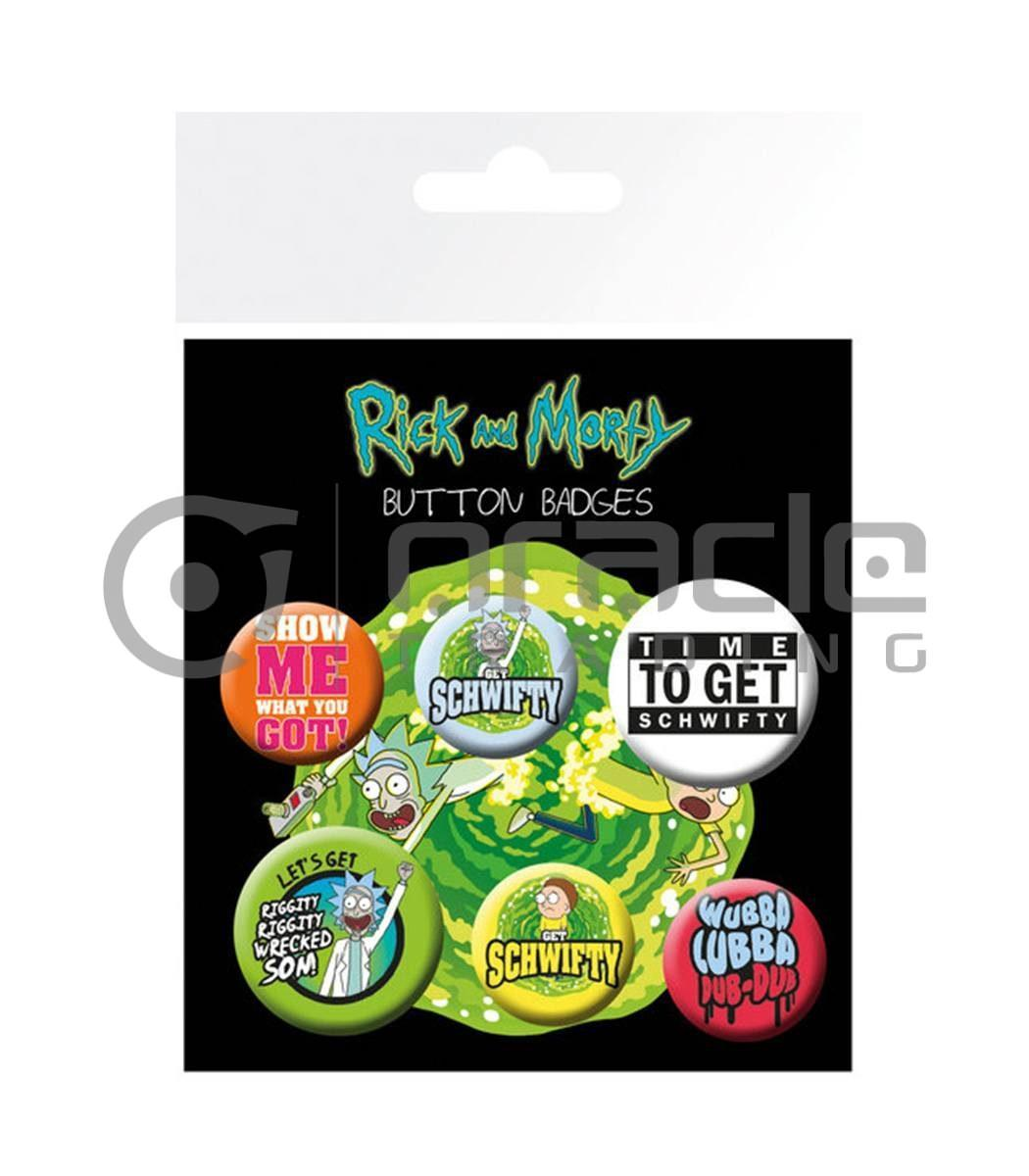 Rick & Morty Badge Pack - Quotes