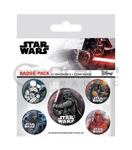 Star Wars Badge Pack - Dark Side