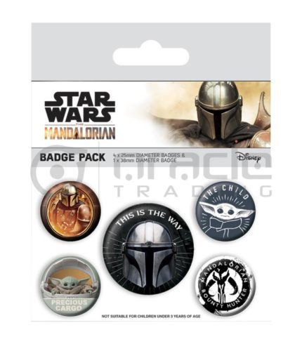 Star Wars: The Mandalorian Badge Pack