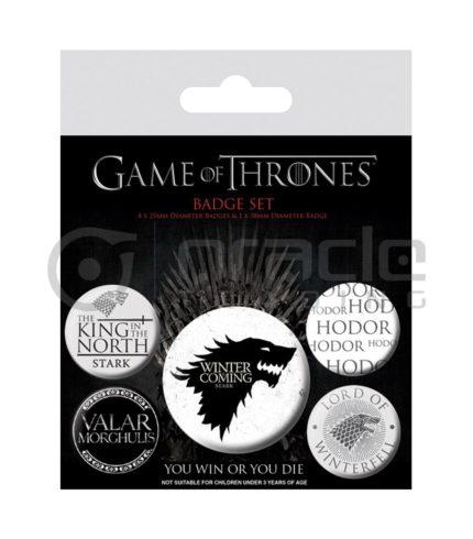 Game of Thrones Stark Badge Pack