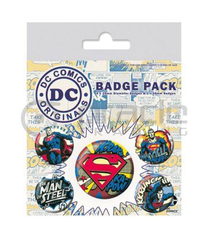 Superman Retro Badge Pack