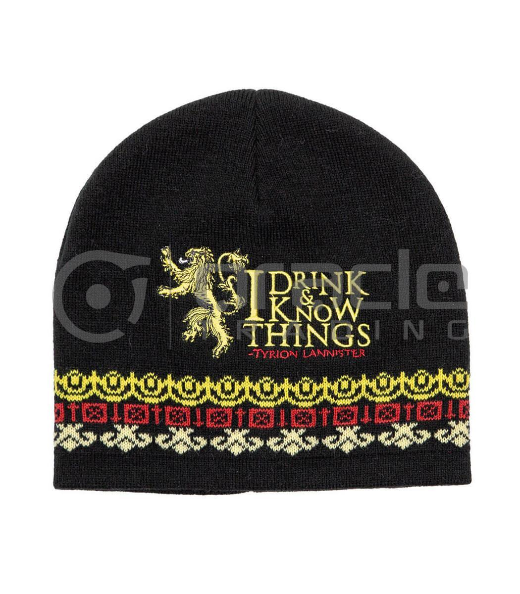 Game of Thrones I Drink & I Know Things Beanie