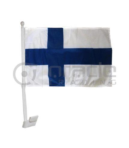 Finland Car Flag