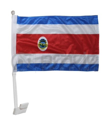 Costa Rica Car Flag