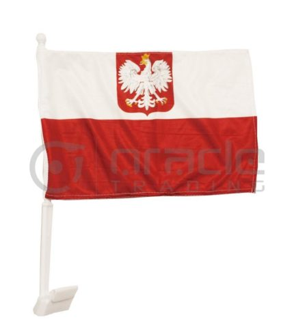Poland Car Flag