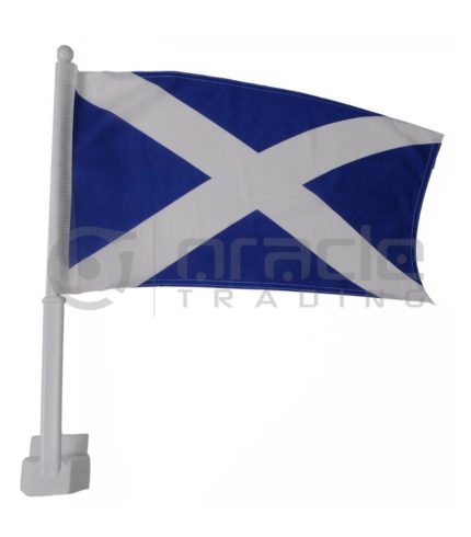Scotland Car Flag - St. Andrew's Cross