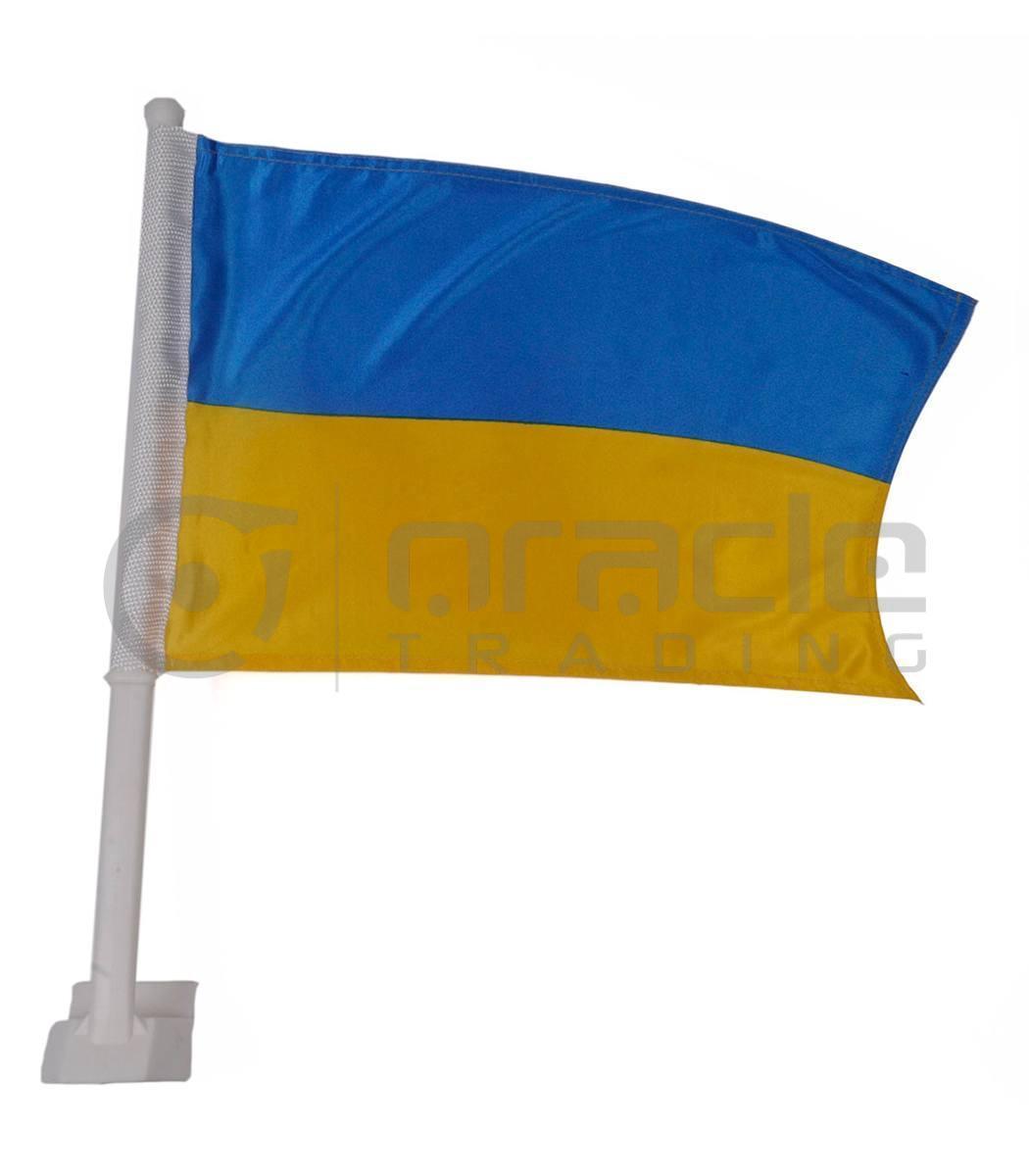 Ukraine Car Flag