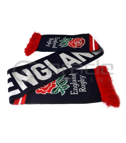 England Rugby Knitted Scarf - UK Made