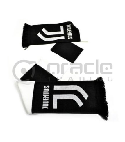 Juventus Knitted Scarf - UK Made (White)