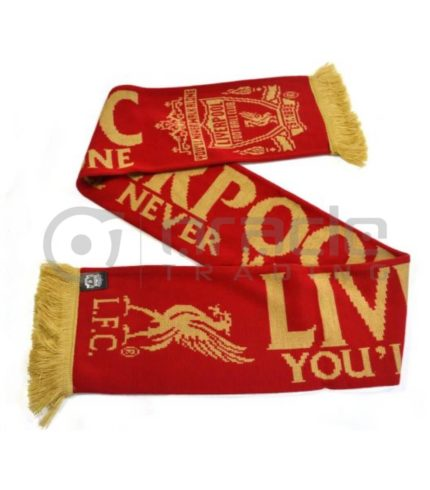 Liverpool Knitted Scarf - Gold Standard - UK Made
