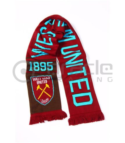 West Ham Knitted Scarf - UK Made