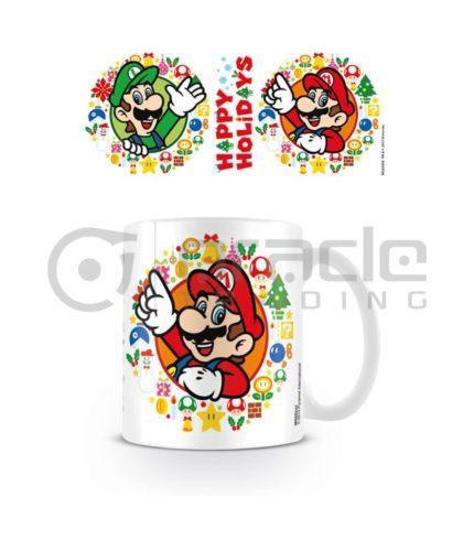 Super Mario Mug - Happy Holidays