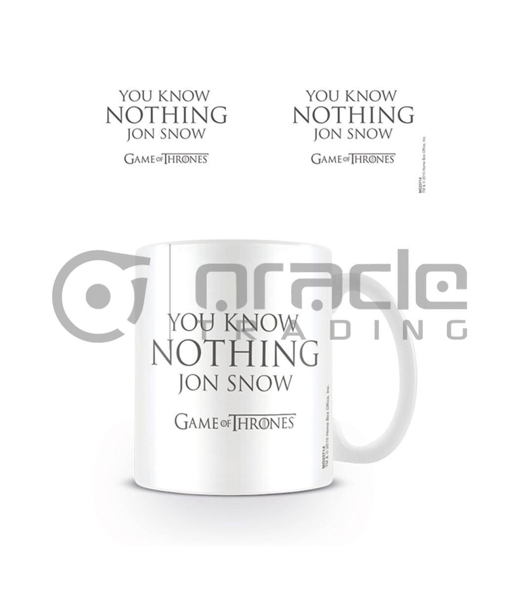 Game of Thrones Know Nothing Jon Snow Coffee Mug