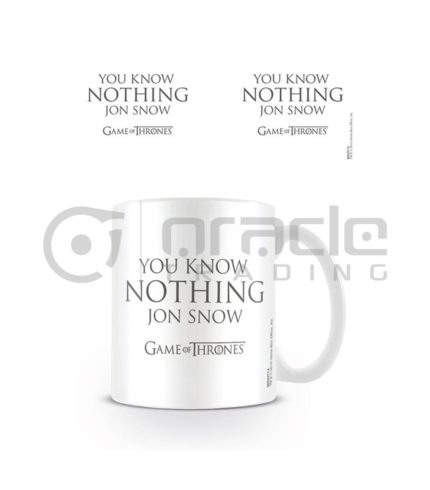 Game of Thrones Know Nothing Jon Snow Coffee Mug