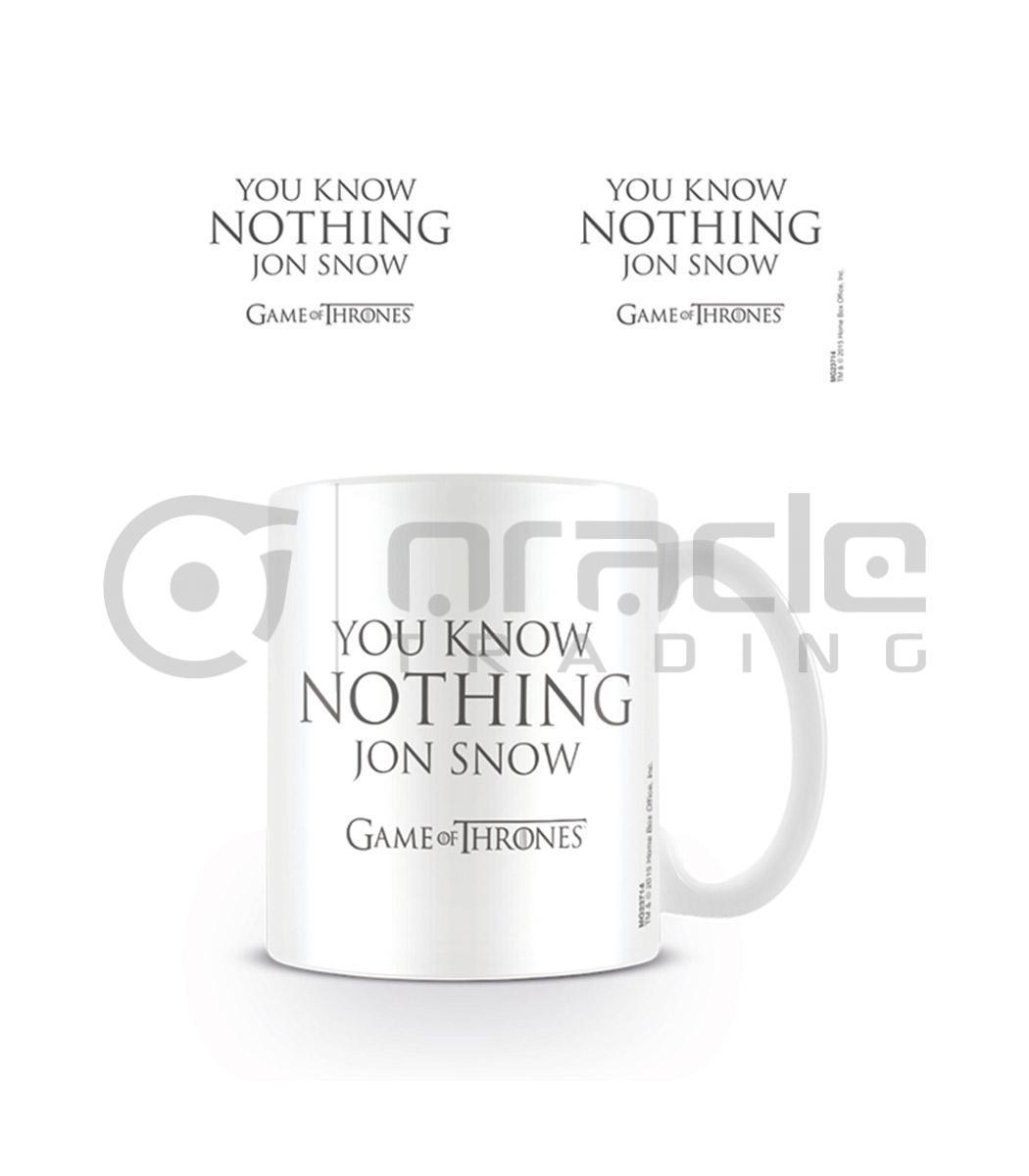 Game of Thrones Know Nothing Jon Snow Mug