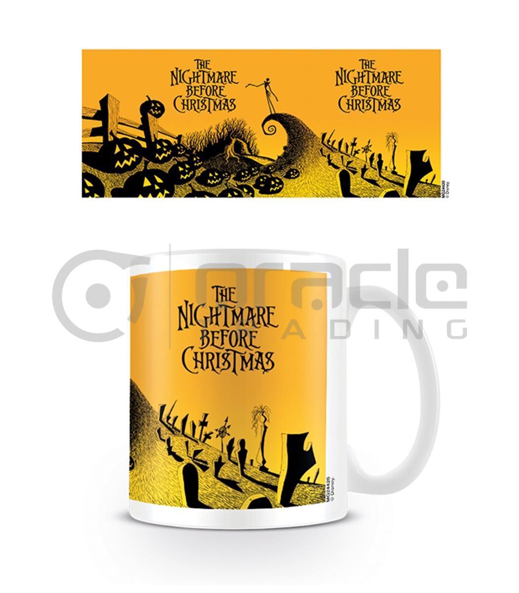 Nightmare Before Christmas Coffee Mug.Nightmare Before Christmas Coffee Mug Graveyard Scene