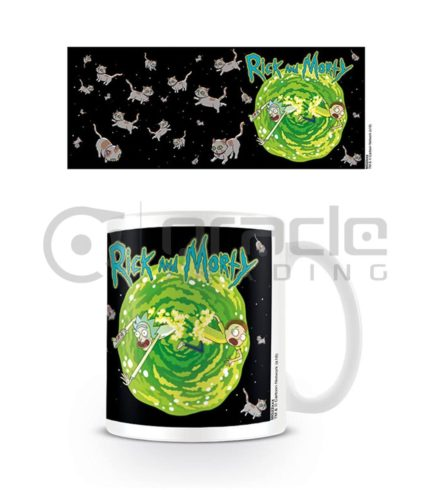 Rick & Morty Coffee Mug - Floating Cat Dimension