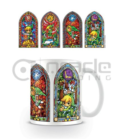 Zelda Stained Glass Coffee Mug