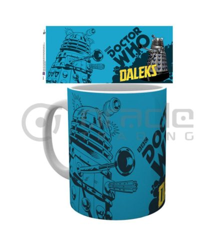 Doctor Who Blue Daleks Coffee Mug
