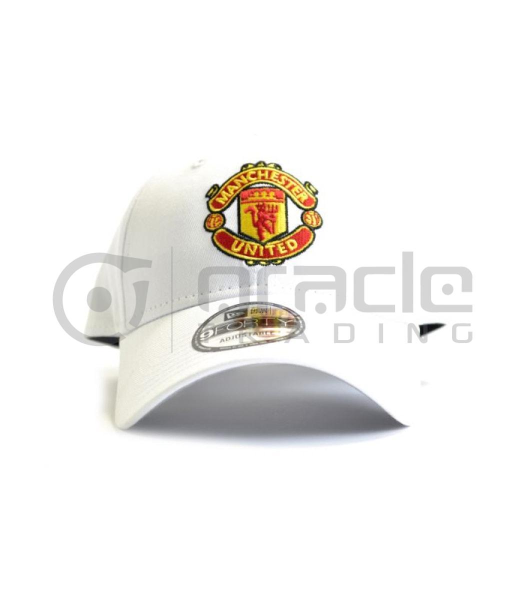 Manchester United White Crest Hat - New Era