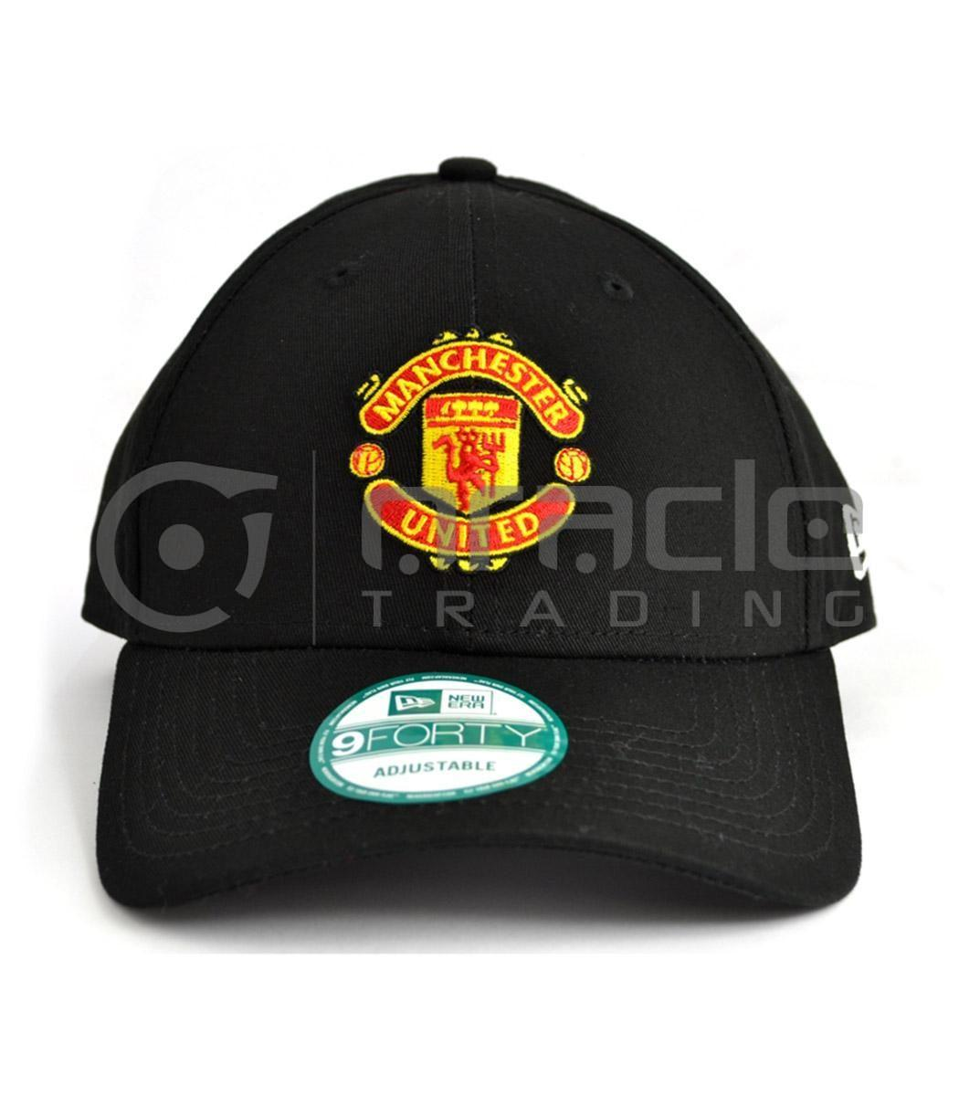 Manchester United Black Crest Hat - New Era
