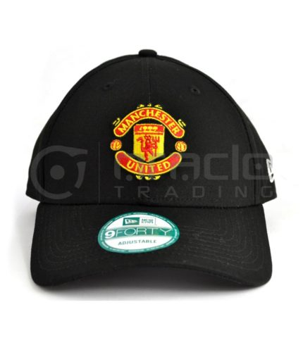 Manchester United Black Crest Hat - New Era