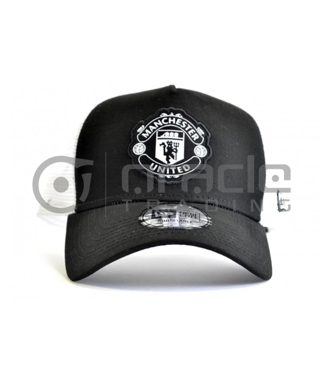 Manchester United Black & White Crest Hat - New Era