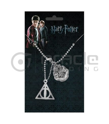 Harry Potter Hogwarts & Deathly Hallows Dog Tags
