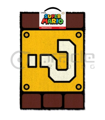 Super Mario Doormat - Question Block